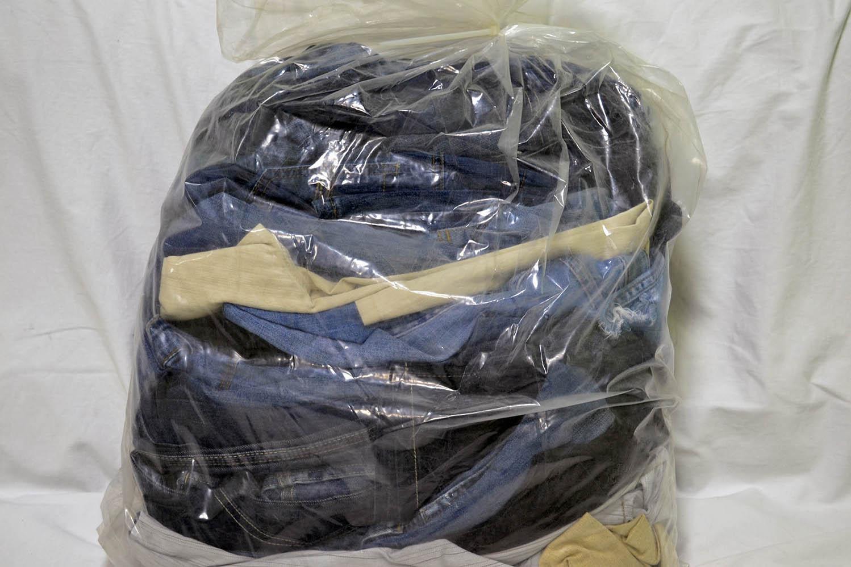 KAL03EL; Женские эластичные  джинсовые брюки: код мешка12162993